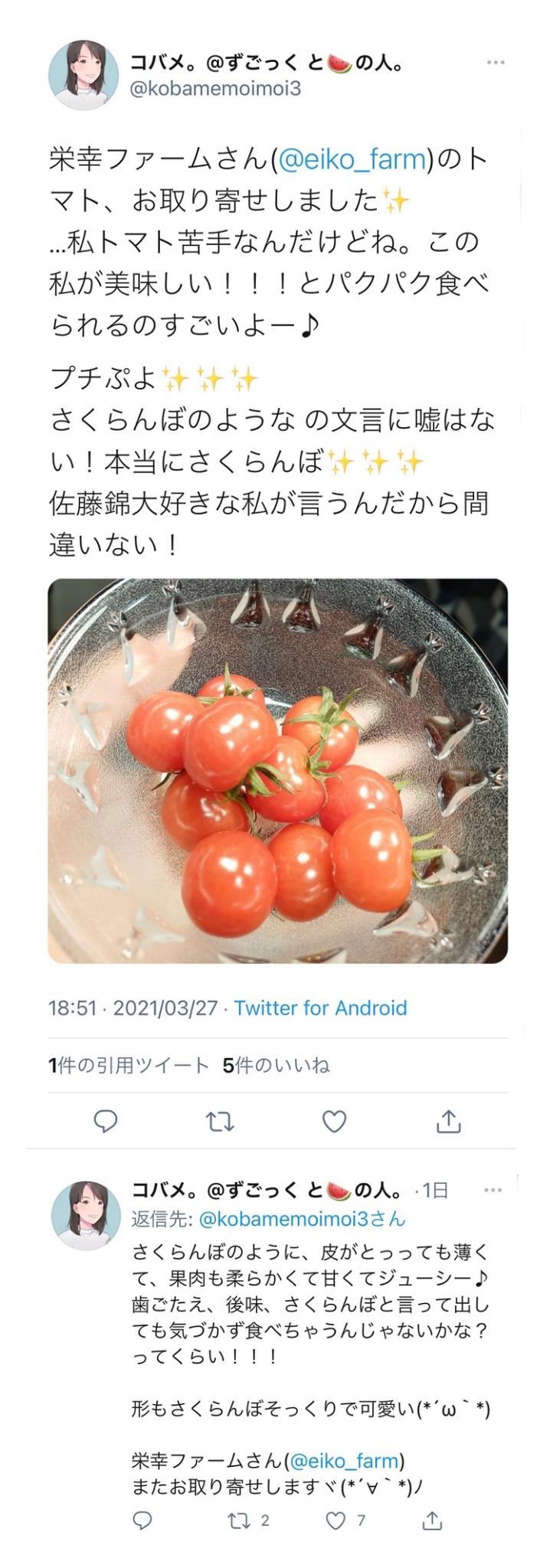 プチぷよトマトのお取り寄せ・通販 - 栄幸ファーム